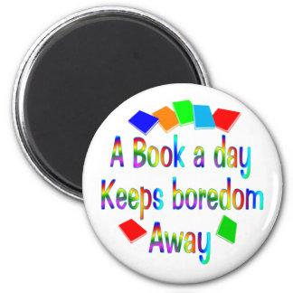 A Book A Day Fridge Magnet