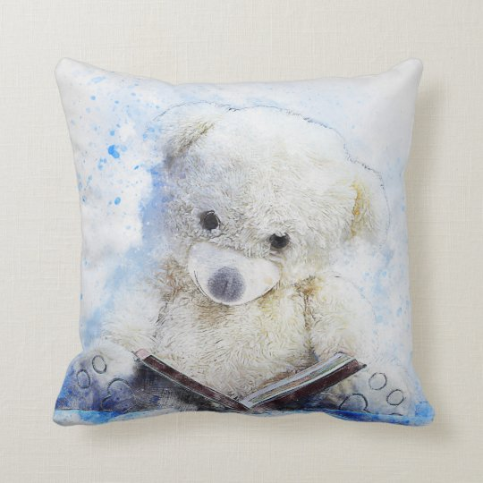 A Book at Bedtime - cute teddy bear