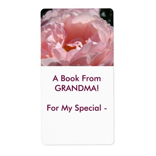 A Book from GRANDMA! Rose Book Gift Tags To