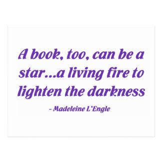 A Book, Too, Can Be A Star Postcard