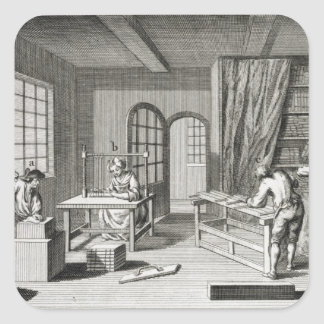A bookmaker's workshop, from the 'Encyclopedie des Square Sticker