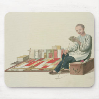 A Bookseller, plate 6 from 'The Costume of China', Mouse Mat