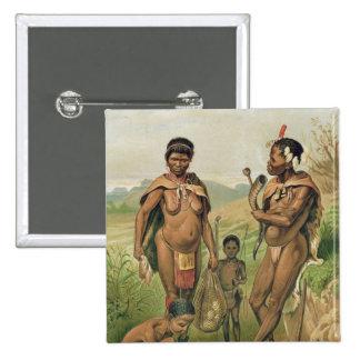 A Bosjesman Family frontispiece 15 Cm Square Badge