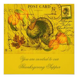 A Bountiful Thanksgiving 13 Cm X 13 Cm Square Invitation Card