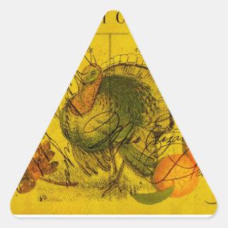 A Bountiful Thanksgiving Triangle Sticker