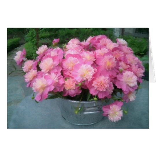 A Bouqet of Peonies Card