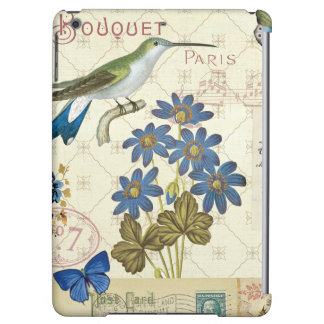 A Bouquet of Blue Flowers, Birds and Butterflies