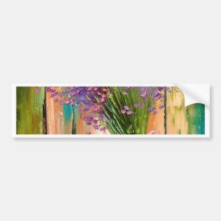 A bouquet of lavender bumper sticker