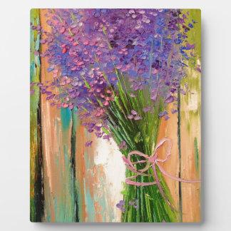 A bouquet of lavender plaque