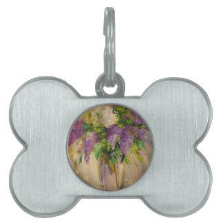 A bouquet of lilacs pet tags