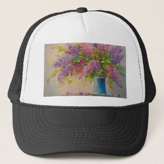 A bouquet of lilacs trucker hat