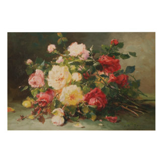 A Bouquet of Roses Wood Wall Art
