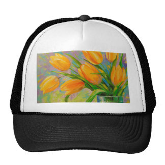 A bouquet of tulips cap