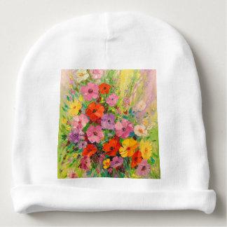A bouquet of wild flowers baby beanie