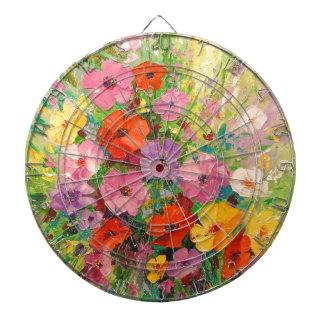 A bouquet of wild flowers dart board