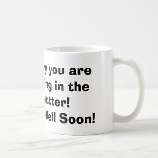 A bowling ball Get well mug