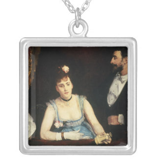A Box at the Italians' Theatre, 1874 Square Pendant Necklace