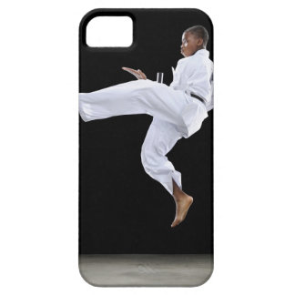 A Boy (15 Years Old) doing a front kick iPhone 5 Covers