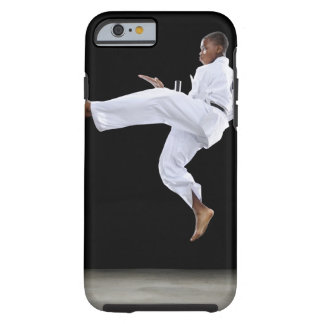 A Boy (15 Years Old) doing a front kick Tough iPhone 6 Case