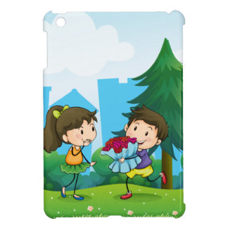 A boy and his girlfriend at the hill case for the iPad mini