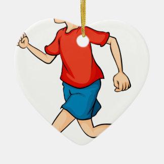 A boy ceramic heart decoration