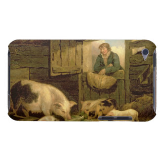 A Boy Looking into a Pig Sty, 1794 (oil on canvas) iPod Case-Mate Case