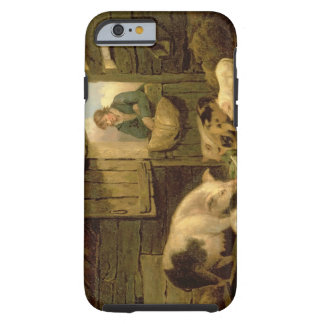 A Boy Looking into a Pig Sty, 1794 (oil on canvas) Tough iPhone 6 Case