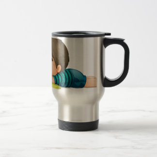 a boy 15 oz stainless steel travel mug