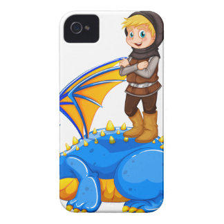 A boy taming the dragon iPhone 4 covers