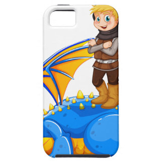A boy taming the dragon iPhone 5 case