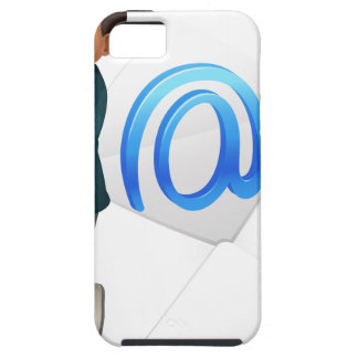a boy with mail envelop iPhone 5 cover