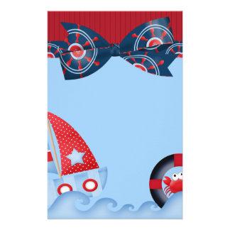 A Boys Sea Life Baby Shower Stationery