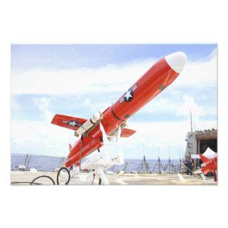 A BQM-74E Chukar drone ready for launch Photo Print