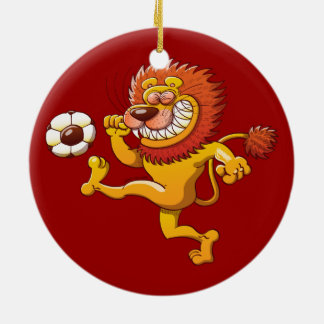 A Brave Lion's the Top Scorer of the Soccer League Christmas Ornament