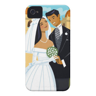 A Bride and Groom iPhone 4 Case