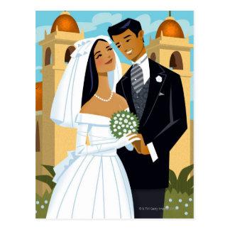 A Bride and Groom Postcard