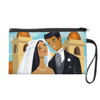A Bride and Groom Wristlet