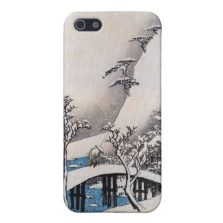 A Bridge in a Snowy Landscape, Ando Hiroshige iPhone 5 Cover