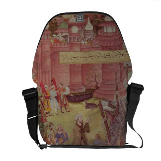 A Bridge of boats broken by Akbar (r.1556-1605) on Messenger Bag