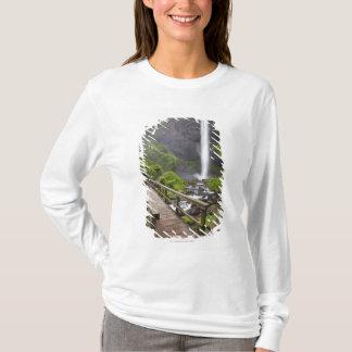 A Bridge Over Columbia River And Latourell Falls T-Shirt
