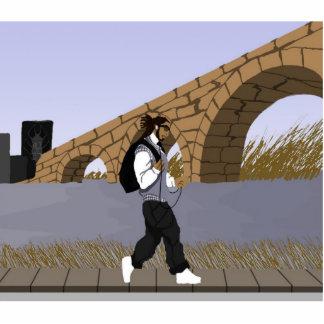 A Bridge View Stroll (digital) Standing Photo Sculpture