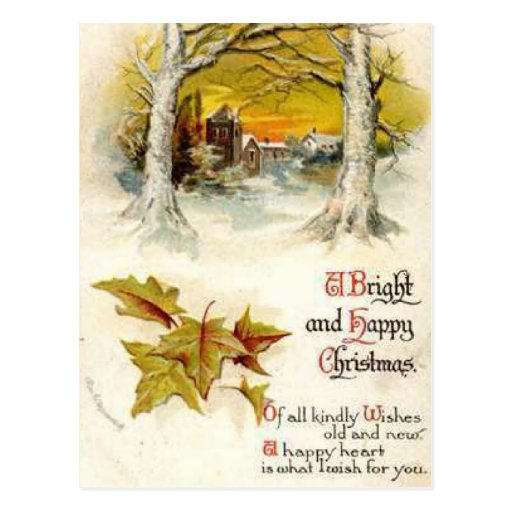 A Bright and Happy Christmas Post Cards