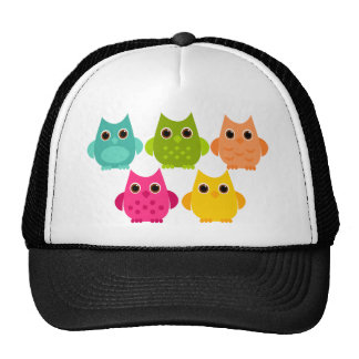 A Bright Bunch of Owls Cap
