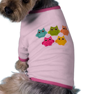A Bright Bunch of Owls Dog T Shirt