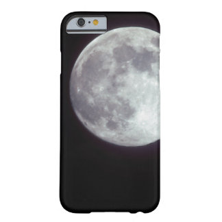 A bright full moon in a black night sky barely there iPhone 6 case
