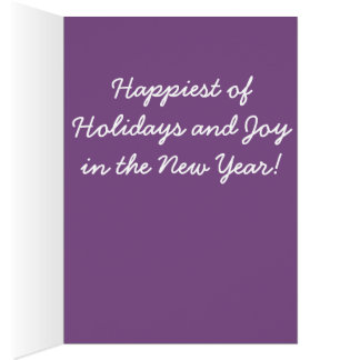 A bright, happy, and unique holiday greeting card. card