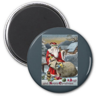A Bright & Merry Christmas 6 Cm Round Magnet