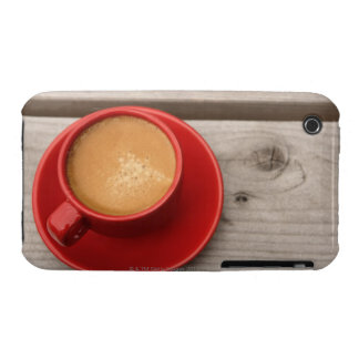 A bright red cup of espresso coffee on a picnic iPhone 3 cases