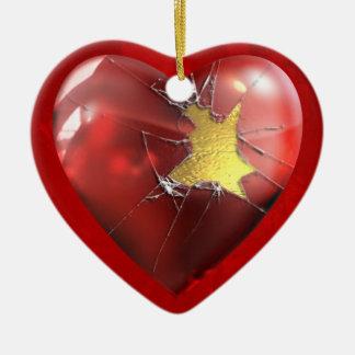 A Broken Heart Ceramic Heart Decoration