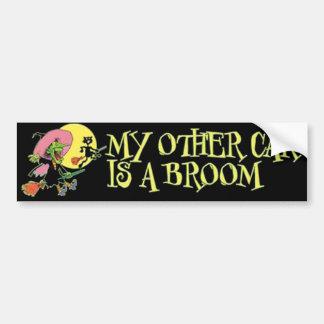 A Broom Bumper Sticker